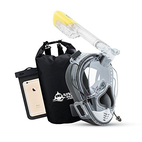 Ninja Shark Snorkel Mask Full Face Set