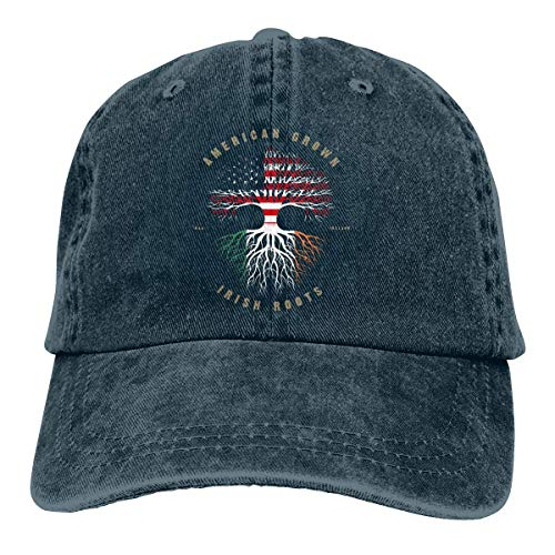 RFTGB Cappelli da Cowboy Cappelli Accessori Cappelli da Baseball Cappelli Unisex American Grown Irish Roots Denim Baseball cap, Unisex Vintage Dad Hat, Golf Hats, Adjustable Plain cap