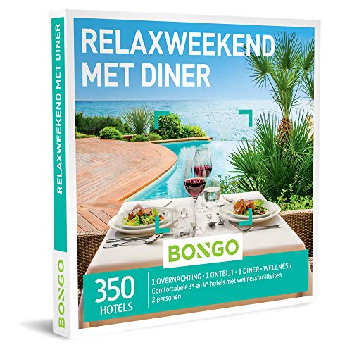Bongo Bon - Relaxweekend met Diner | Cadeaubonnen Cadeaukaart cadeau voor man of vrouw | 350 hotels met wellnessfaciliteiten