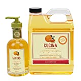 Cucina Hand Soap 200 Milliliter and 1 Liter Refill Set (Sanguinelli Orange and Fennel)