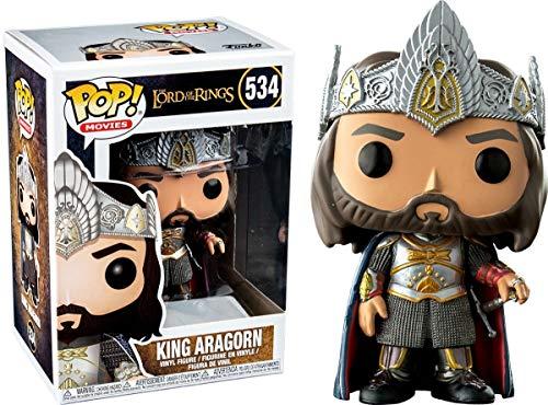 Funko- Figure Pop El Señor de los Anillos Aragorn, Multicolor (27369)