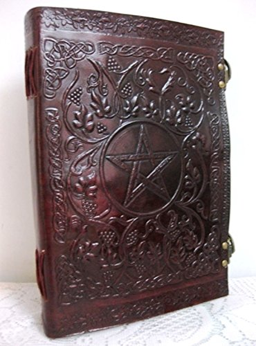 Phoenix Craft Leather 10x7 Embossed Celtic Pentacle Journal Bound Handmade Leather Diary Gift Book Sketchbook Christmas gifts