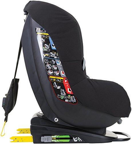 Bébé Confort Milofix, Silla de coche grupo 0+/1 Isofix, negro (Black Raven)