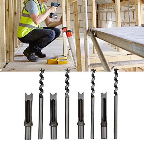 Broca de agujero cuadrado, Sierra de agujero para carpintero Kits de herramientas...