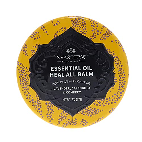 SVASTHYA BODY & MIND Essential Oil Heal All Balm - for Dry Cracked...