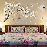 Vandelkt 187 * 128 Cm Große Größe Baum Wandaufkleber Vögel Blume Wohnkultur Tapeten Für Wohnzimmer Schlafzimmer Diy Vinyl Zimmer Dekoration