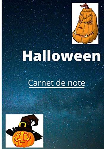 CARNET DE NOTE: halloween cahier de ligne, carnet de ligne, 100 pages, 7+10 pouces,