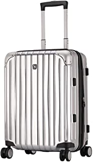 GLJJQMY Travel Suitcase Luggage Large Capacity Outdoor Travel Business Boarding Customs Lock Box Expandable Trolley Case Trolley case (Color : Silver, Size : 39x27x58cm)