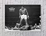 Muhammad Ali Poster Standard Size | 18-Inches by 24-Inches | Muhammad Ali Boxing Sonny Liston Wall Poster Print