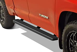 APS iBoard (Black Powder Coated 4 inches) Running Boards Nerf Bars Side Steps Step Rails Compatible with 2007-2020 Toyota Tundra Double Cab Pickup 4-Door
