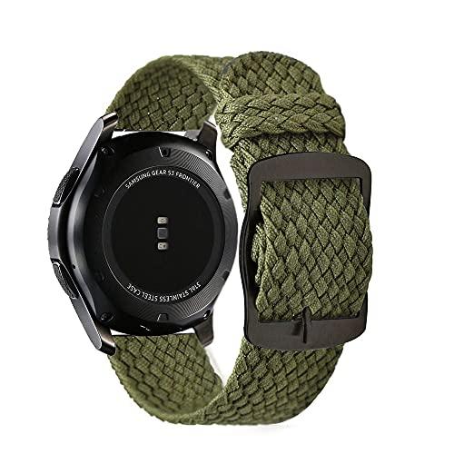 LIANYG Uhrenarmband Uhrenarmband einstellbar atmungsaktiv Nylon-Armband-Armbanduhren-Bänder-Zubehör uhrenarmbänder 330 (Band Color : 4, Band Width : 20mm)