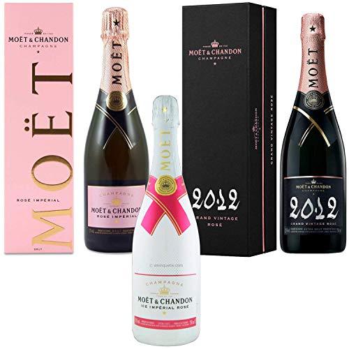 Champagne Moët & Chandon - Imperiale Rosé Impérial Rosé & Ice & Grand Vintage Rosé 2012 - Nel caso in cui 75cl