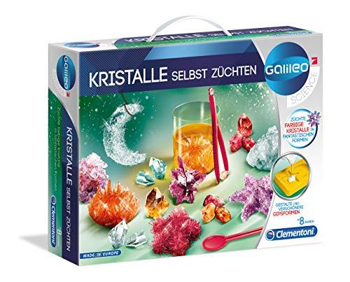 Clementoni 59116 Galileo Science – odla kristaller själv, experimentlåda för små forskare, leksaker för barn från 8 år, färgglada experiment för barnrummet