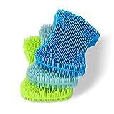 Geloo Silicone Sponge Dish Sponge, Silicone Sponge Dish Washing Kitchen Gadgets Brush Accessories, Kitchen Sponge Double Sided Silicon Brush (3 Pack)