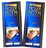 Moser Roth Premium Milk Chocolate bars (Pack of 2)