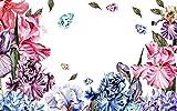 3D Wallpaper Watercolor Flowers Flowers Flowers Leaves Decorative murals 3D Wall Photo murals 250X175cm