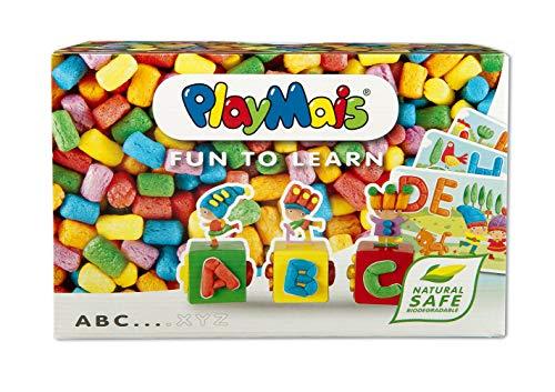 PlayMais Fun to Learn ABC Jeu de Construction pour Les Enfants de 3 Ans et Plus I kit de Bricolage avec 500 pièces I créativité et motricité