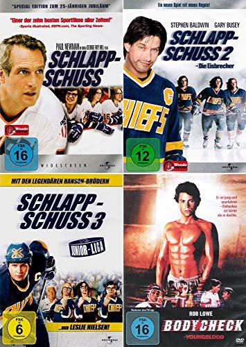 Schlappschuss 1 - 3 Collection + Bodycheck [4er DVD-Set] Keine Box