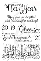 Happy New Year 2019 Transparent Clear Silicone Stamp Seal DIY Scrapbooking photo Album Decorative A079