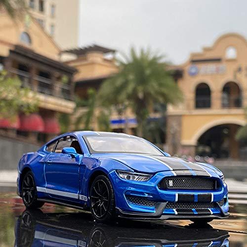 Maquetas de Coches 1:32 Ford Mustang Shelby Gt350 Coche Deportivo De Aleación Modelo De Coche Diecast Y Vehículos De Juguete Modelo De Coche Colección De Modelos De Simulación Regalo para Chico
