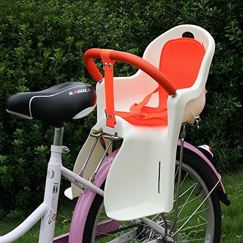 JHKGY Seggiolino per Bambini/Seggiolino Bici,Caratteristiche Imbracatura A 3 Punti, Bracciolo Staccabile, Si Monta Facilmente sulla Ruota Posteriore della Bicicletta,per I Bambini,A,Beige