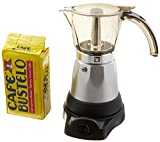 Electric Espresso Coffee Makes 3-6 Cups. 10 oz Bustelo Espresso Coffee Pack Included