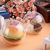 20x Palle di plastica Acrilico dell' albero di Natale della sfera Transparent palle di Natale,10CM