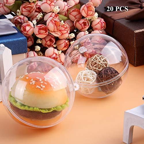 Kranich 20 Stück Acrylkugeln Weihnachtskugeln Weihnachtsdeko Plastik Transparent 10cm