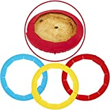 PERFECT GOLDEN CRUSTS FOR ALL PIES - the protective cover ensures no more burnt edges when baking up delicious apple pies, cherry pies, quiches, and more ADJUSTABLE FOR ALL SIZE TINS - easy to size up or down to fit onto different sized pie tins with...