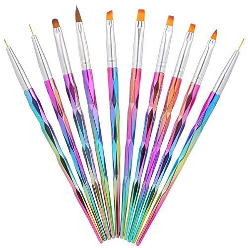 Komplette-Set 10-teiliges Rundum-Sorglospaket Acrylgele + Plastilin-Gele + Farbgele + Nailart Fineliner