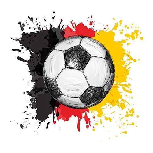 110 Muursticker voetbal bal Duitsland vlag sticker 6 maten * Nikima * gemakkelijk aan te brengen en verwijderbaar