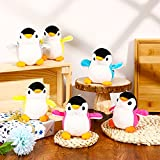 12 Pieces Mini Plush Penguin Stuffed Toys Animal, Cute Small Baby Penguin Stuffed Doll Penguin Plush Keychain Key Holder Bag Pendant Party Favor Present Toys for Boys Girls, Blue, Red, Gray, Yellow