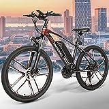 26' Bicicleta Eléctrica Bicicleta de Montaña Eléctrica para Adultos, E-Bike MTB Pedal Assist, 350W E-Bike Bici Electrica con Batería De Iones De Litio Extraíble De 8 Ah, Engranajes De 21 Velocidades