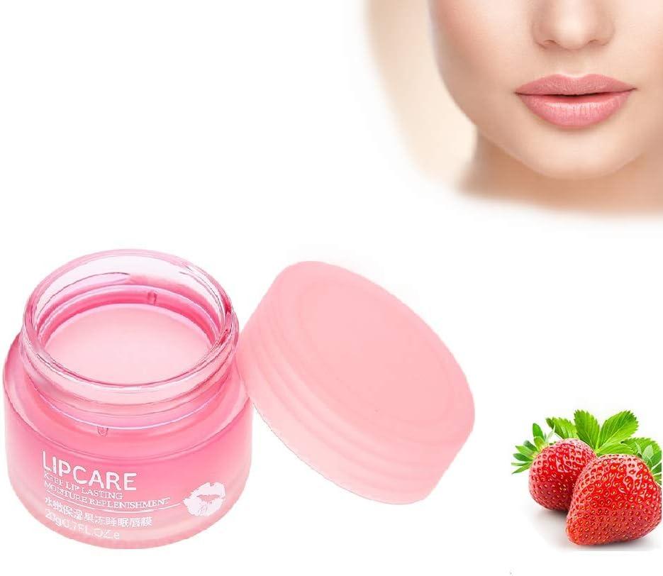 20g Mascarilla Hidratante para labios, Hidratante y nutritiva para aclarar las líneas de los labios, anti envejecimiento del cuidado de los labios