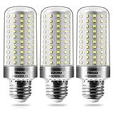 Wedna E27 LED maíz bombilla, 20W Blanco Frío, 150W Incandescente Bombillas Equivalentes, 2000Lm, Edison tornillo bombillas, No regulable - 3 unidades