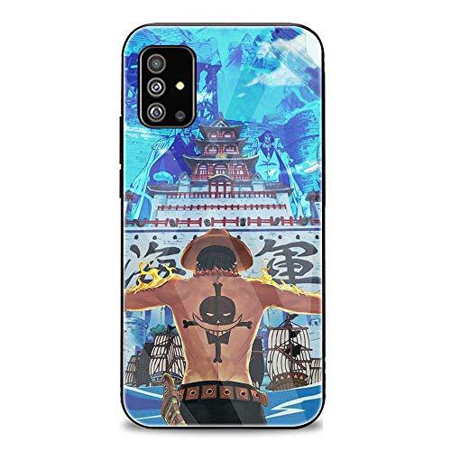 FUTURECASE Anime One Piece Zoro Ace Luffy Schutzhülle aus gehärtetem Glas für Samsung Galaxy A01 A10 A10S A10E A11 A12 A20 A20E A20S A31 A21 A41 A42 A21S (11, Samsung A12)
