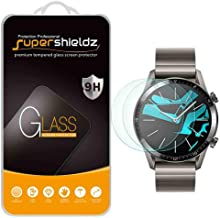 (2 Pack) Supershieldz for Huawei Watch GT 2 (46mm) Tempered Glass Screen Protector, Anti Scratch, Bubble Free