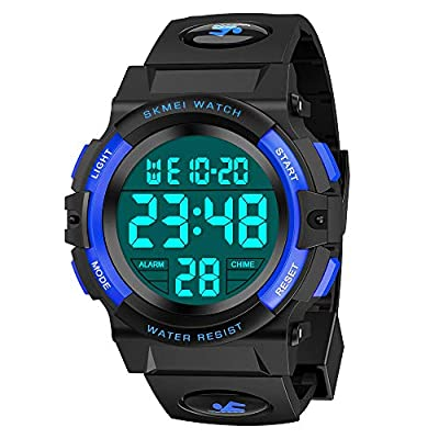Dreamingbox Kids Digital Watches Boys, Boys Sports Watches Waterproof Boys Watches Ages 7-10 Led Kids Watch Birthday Gifts for Boys Age 5-10 Digital Watch for Child Gifts for Kids Blue