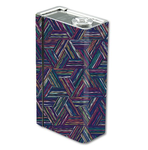 Skin Decal Vinyl Wrap for Smok Xcube 2 BT50 Vape Mod Box / Triangle Weave