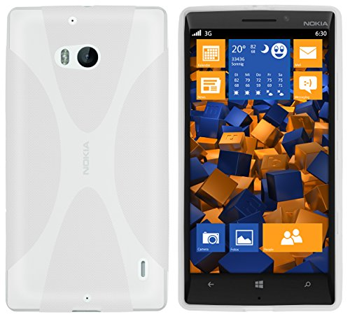 mumbi Hülle kompatibel mit Nokia Lumia 930 Handy Case Handyhülle, transparent Weiss