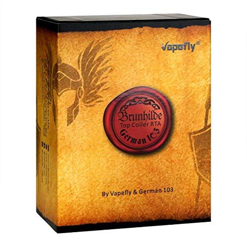 VapeFly Brunhilde RTA Clearomizer 8 ml, Durchmesser 25 mm, Verdampfer für e-Zigarette, gunmetal