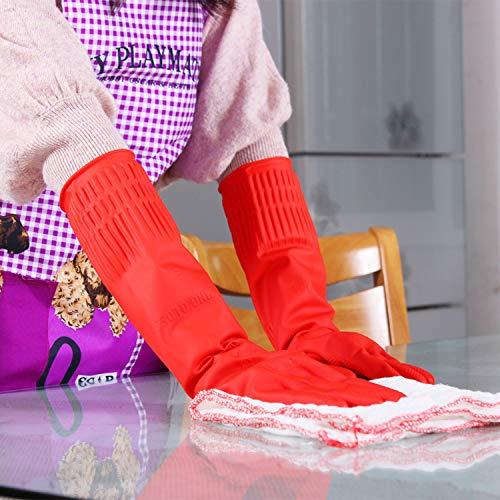 LLQM Elastische keukenhandschoenen, waterdicht, rubberen handschoenen voor de vaatwasser, autowas