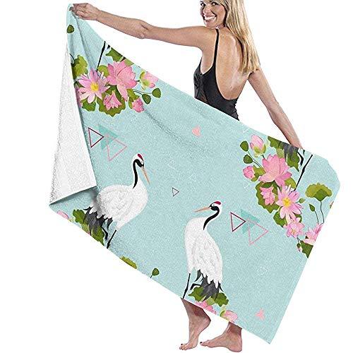LisaArticles saunahanddoek, Japanse zieken en bloemen (3) handdoek voor kinderen - grote dikte, op maat gemaakte strand- en badhanddoeken voor volwassenen, jongens en meisjes (badhanddoek 80 x 130 cm)