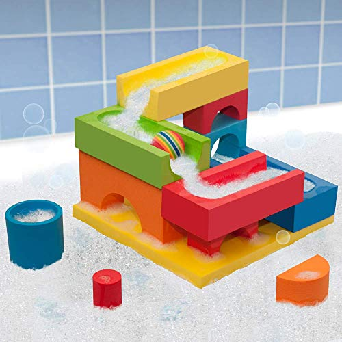 BathBlocks Ball Run & Waterfall, Multicolor