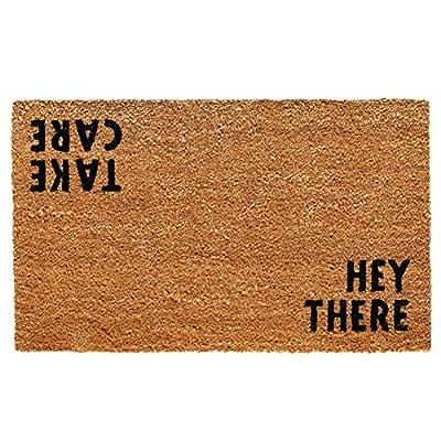 "Calloway Mills 100511729 Hey There Doormat, 17"" x 29"", Natural/Black"