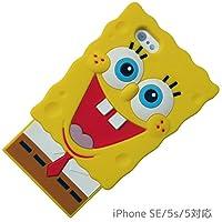 グルマンディーズ スポンジ・ボブ iPhoneSE/iPhone5s/iPhone5対応 ダイカットシリコンジャケット SB-39A