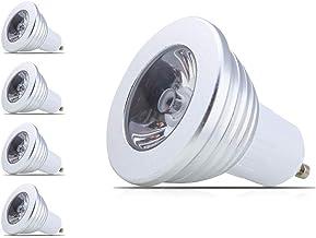 mengjay® 4 stuks kleurveranderende GU10 3 W LED licht RGB verlichting heldere energiebesparende mood lampen - 16 kleuren -...