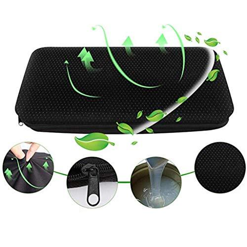 Fine Portable Breathable Lumbar Cushion, Car Wedge Seat Cushion for Car Driver Seat Office Chair Wheelchairs Memory Gel Seat Cushion (Black)