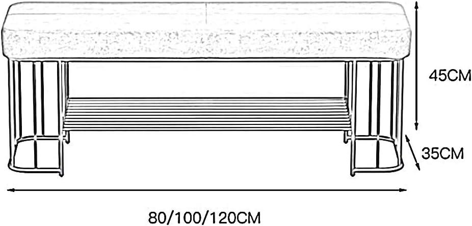 100x35x45cm con Cuscino in Velluto 1 ripiano in Metallo pu/ò organizzare 4-6 Paia di Scarpe Cambia Panca for Scarpe Mobili da corridoio Moderni Multicolore Opzionale LJFYXZ Mobile Porta Scarpe 80