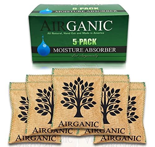 Airganic Safe, Car, Closet, Gun Safe Dehumidifier - Made of Natural Minerals & Plants Moisture Absorbers - Mini Dehumidifier Small - RV, Home, Storage, Shoe - Kid & Pet Friendly (5 Pack)